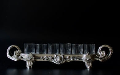 Liquor set (7) - Louis XVI - Silverplate