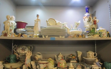 Mixed continental and English ceramics A/F to include Limoge...