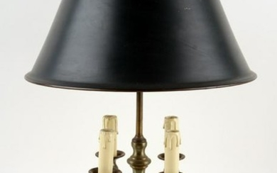NEOCLASSICAL STYLE BRASS METAL BOUILLOTTE LAMP