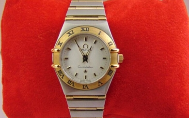 Omega Constellation ladies stainless steel and gold wristwatch to...