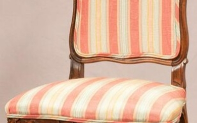 "QUEEN ANNE STYLE MAHOGANY CHAIR, H 40"", W 20"""