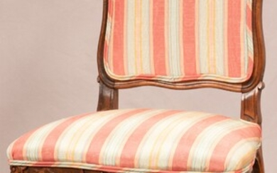 """QUEEN ANNE STYLE MAHOGANY CHAIR, H 40"""", W 20"""""""