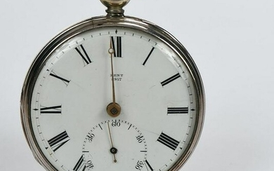 Rare E.J. Dent Silver Pocket Watch
