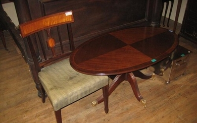 Regency Style Inlaid Mahogany Coffee Table With Inlaid Decor...