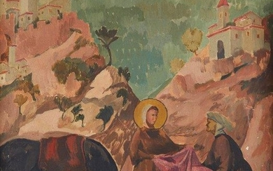 Roger Fry, British 1866-1934- St Francis giving...