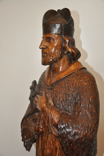 Saint, Sculpture, Large carved holy figure - 18th - 19th century