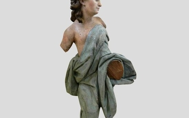 Sculpture, Mancebo angel - 69 cm - Wood - Mid 18th century