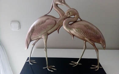 Sculpture of two herons (1)