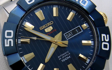 "Seiko - - Automatic 24 Jewels ""Blue-Gold Dial"" - - Men - 2011-present"