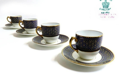 Set of Coalport for Tiffany & Co Cup & Saucers
