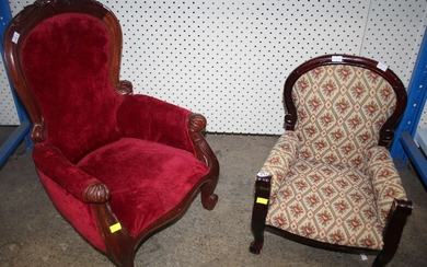 TWO VARIOUS DOLLS CHAIRS