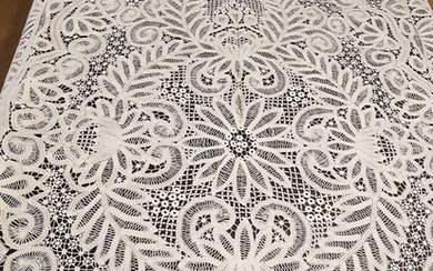Tablecloth 265 x 170 cm - Cotton, BURANO LACE - First half 20th century