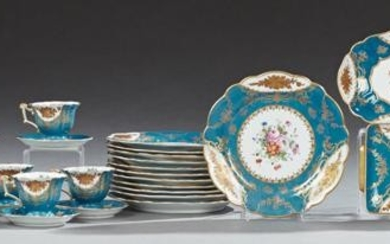 Thirty-Five Piece Set of French Sevres Style Porcelain