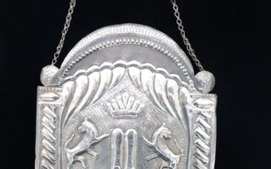 Torah shield - Tass - .800 silver - Austria - Early 20th century