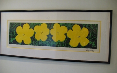 Untitled [ Four Flowers], Original Serigraph By Andy Warhol, Circa 1964