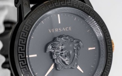 Versace - Palazzo Empire Watch Two Tone Rose Gold and Black Swiss Made - VERD00618 - Men - BRAND NEW