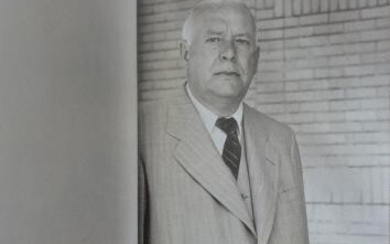WALLACE STEVENS (ORIGINAL BLACK & WHITE PHOTOGRAPH FROM STEVENS PERSONAL ARTIFACTS)
