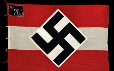 WW2 German Hitler Youth Flag with Unit Mark