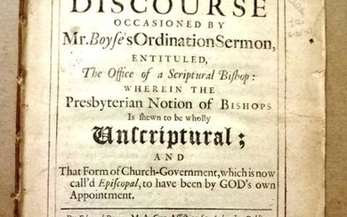 1709 A Discourse Occasioned by Mr. Boyse's Ordination