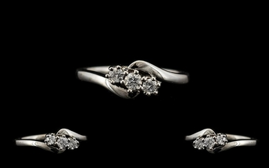 18ct White Gold Nice Quality and Attractive 3 Stone Diamond ...