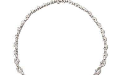 18kt white gold and diamond collier