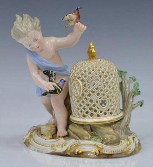 "19Th C. Meissen Figural Group, ""Air"", Elements Series"