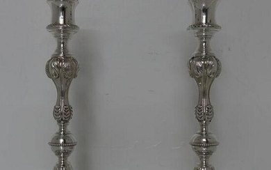 19th Century Antique Victorian Silverplated Pair of