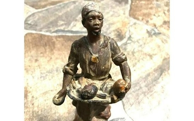 19thc Cold Painted Spelter Orientalist Arab Figural