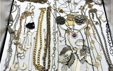 [34] Assorted Costume Jewelry Necklaces - Big Variety