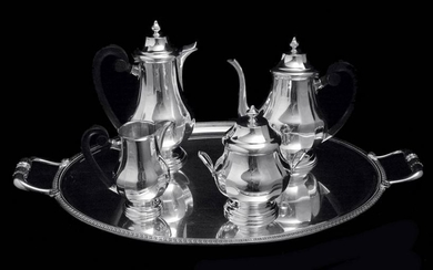 5pc. FRENCH ANTIQUE 950 STERLING SILVER LOUIS XVI TEA