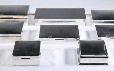 (8) STERLING SILVER BOXES
