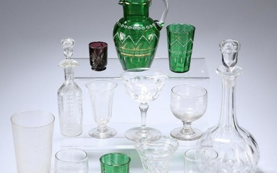 A COLLECTION OF PREDOMINANTLY 19TH CENTURY GLASS