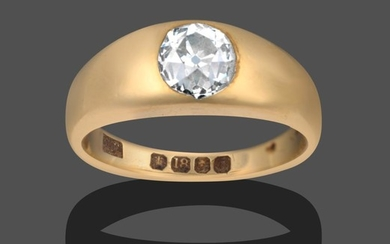 A Gentleman's 18 Carat Gold Diamond Solitaire Ring, the old...
