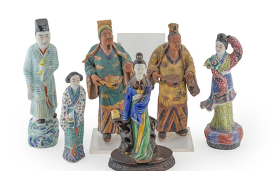 A Group of Six Chinese Figures