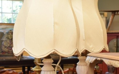 A PAIR OF CLASSICAL STYLE TABLE LAMPS