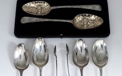 A Pair of William VI Silver and Silver Gilt...