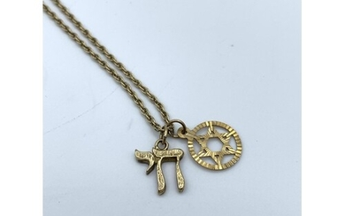 A Rose Gold 'Star of David' on a 40cm Necklace with an Addit...