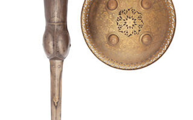 A South Indian Pata, And An Indian Circular Dhal, The First 17th Century, The Second Late 19th Century