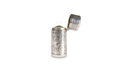 A VICTORIAN SILVER SCENT FLASK,by Sampson Mordan &