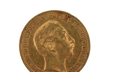 A gold coin of 20 marks Wilhelm II