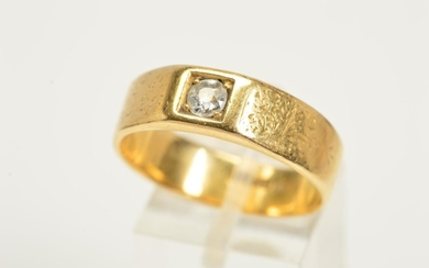 AN EARLY 20TH CENTURY GENTLEMAN'S 18CT GOLD DIAMOND RING, de...