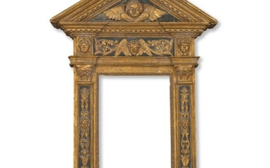 AN ITALIAN GILTWOOD AND PAINTED TABERNACLE FRAME, LATE 19TH CENTURY