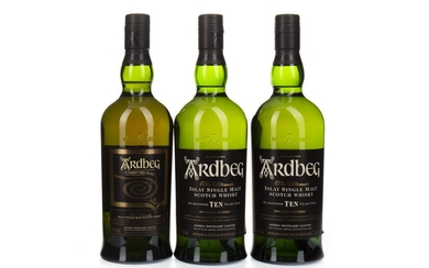 ARDBEG CORRYVRECKAN AND TWO 10 YEARS OLD