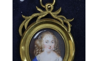 After J. Petetot, 19th century oil on ivory, Madamme Grignan...
