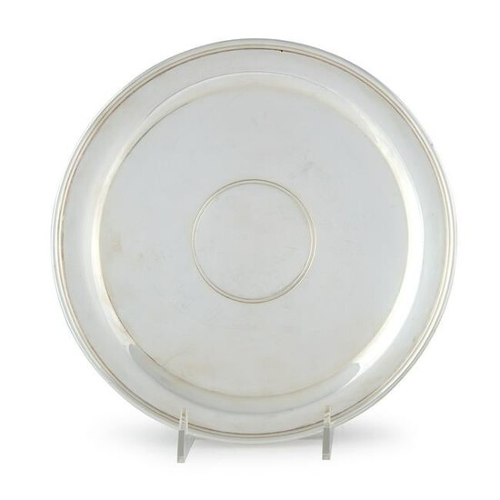 An American sterling silver salver, Early 20th century