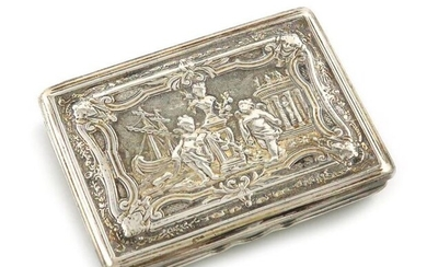 An early 19th century Austro-Hungarian parcel-gilt silver snuff...