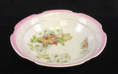 Antique Bavarian Maple Leaf Salad Bowl