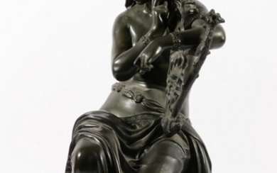 Antique Bronze Probably Loreley, The River God of the Rhine H: 54cm