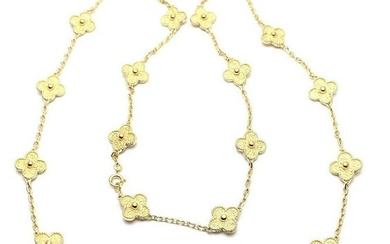 Authentic! Van Cleef & Arpels 18k Yellow Gold 20 Motif