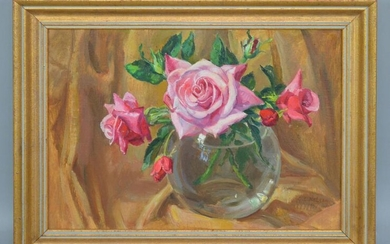 Beautiful O/C Still Life Signed George Laurence Nelson